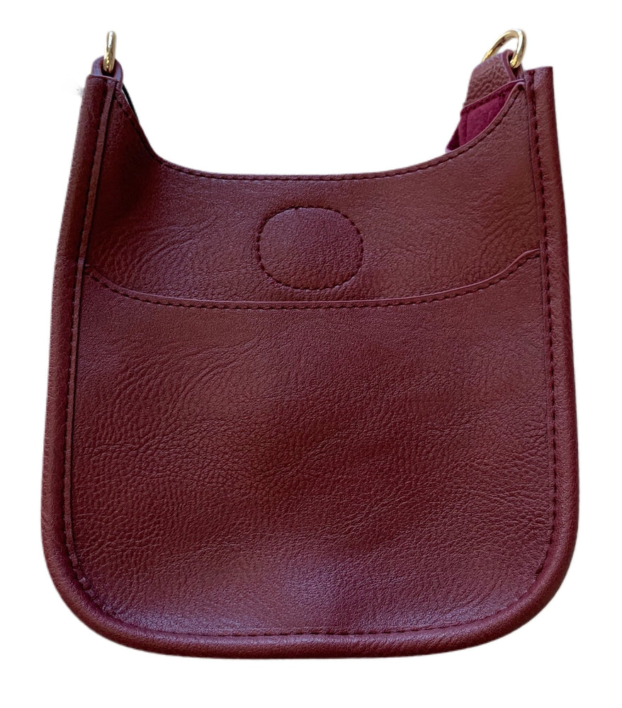 Petite Messenger without Strap in Burgundy