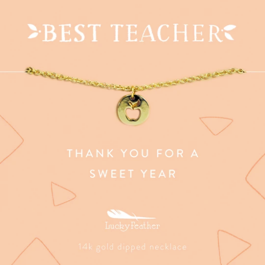 Teacher Necklace- Thank You For A Sweet Year