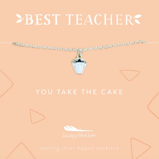 Teacher Necklace- You Take The Cake