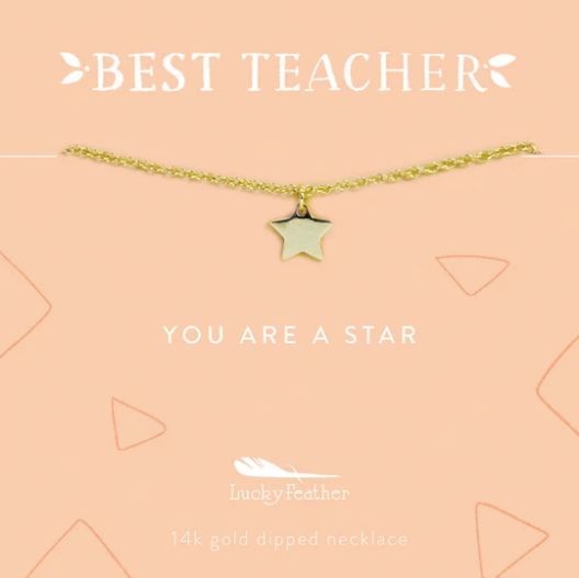 Teacher Necklace- You Are A Star