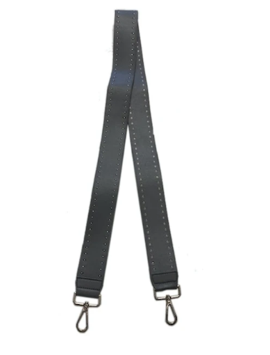 Faux Leather Bag Strap -  Grey