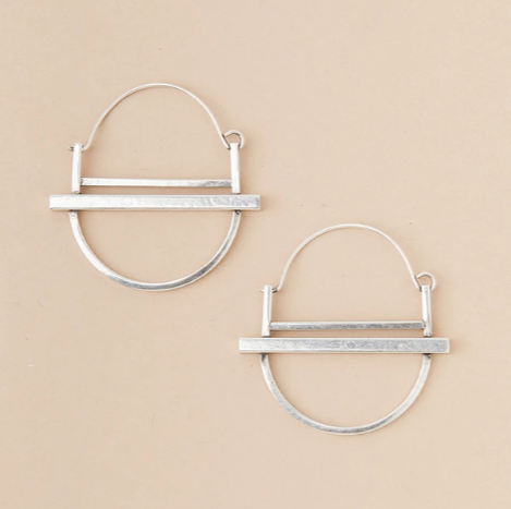 Refined Earring Collection - Saturn Hoop/Sterling Silver