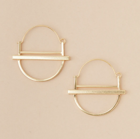 Refined Earring Collection - Saturn Hoop/Gold Vermeil