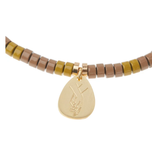 Stone Intention Charm Bracelet - Amazonite/Gold