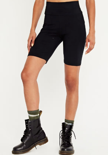 Biker short in black