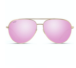 Mila Aviator Polarized Sunglasses in Pink/Gold