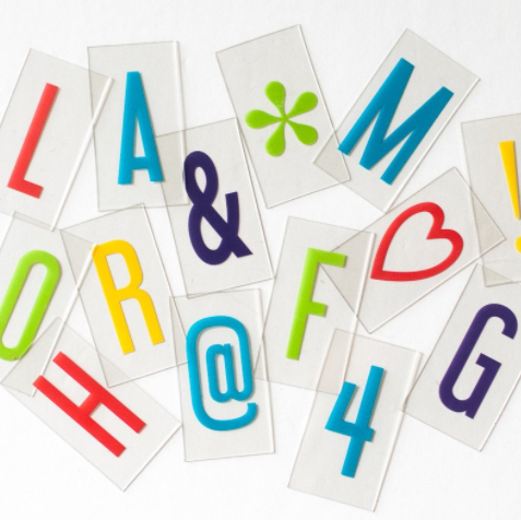 My Cinema Lightbox Vibrant Letter Pack- Original