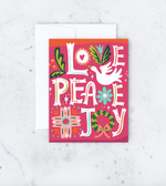 Love, Peace, Joy Card