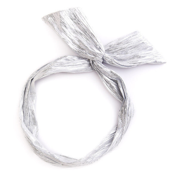 ban.do Twist Scarf in Silver Metallic