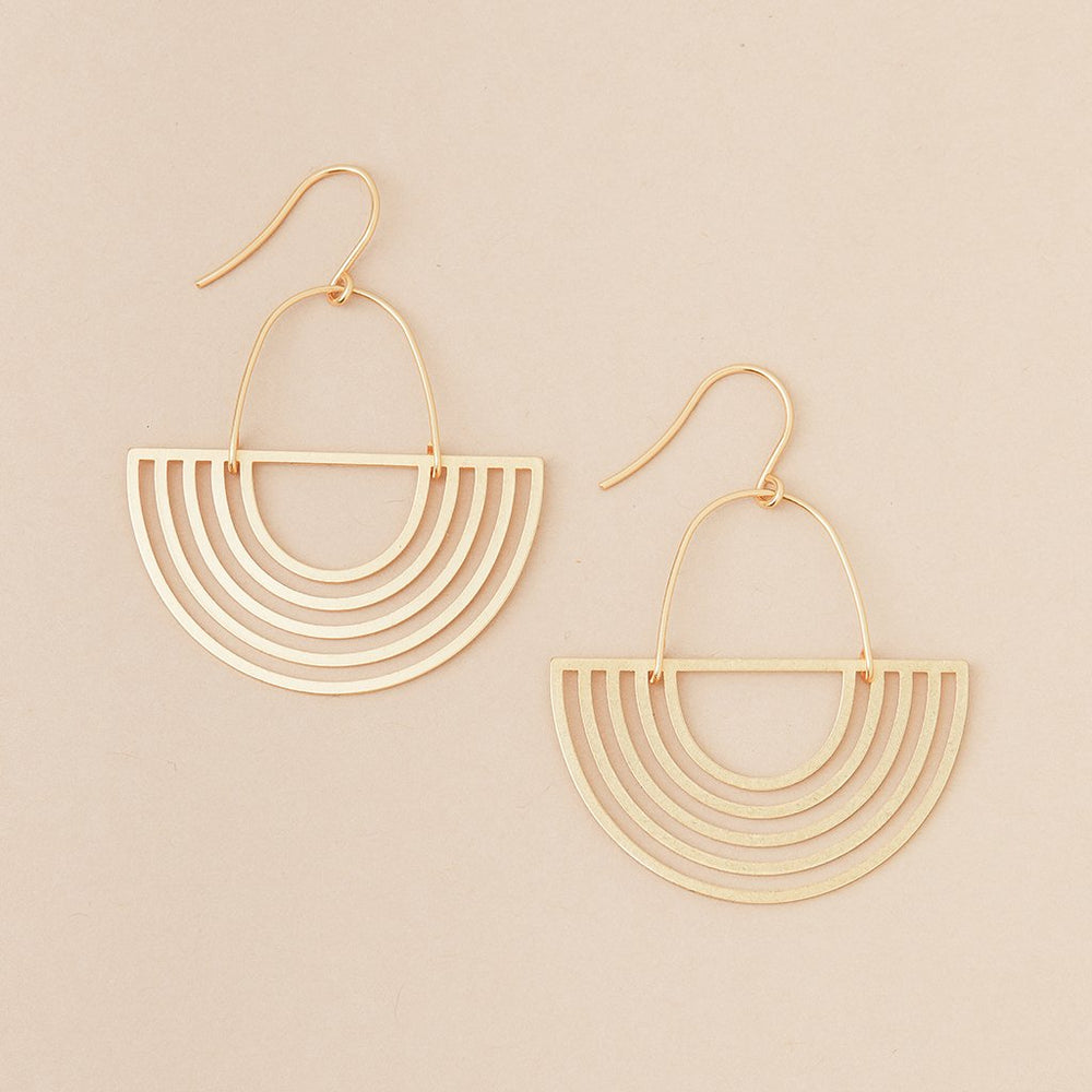 Refined Earring Collection - Solar Rays/Gold