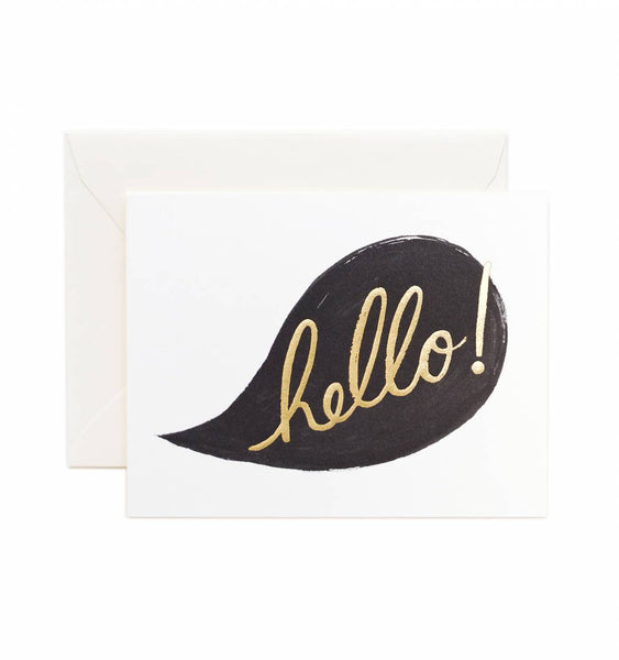 Rifle Paper Co. Hello Conversation Foil Card