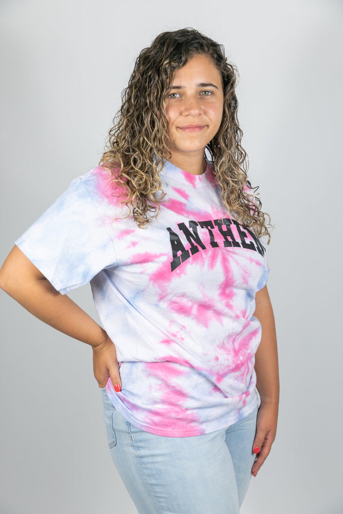 Anthem Collegiate Tee - Pink/Blue