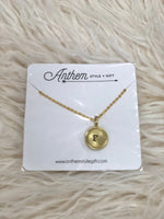 Charm Necklace in Letter F