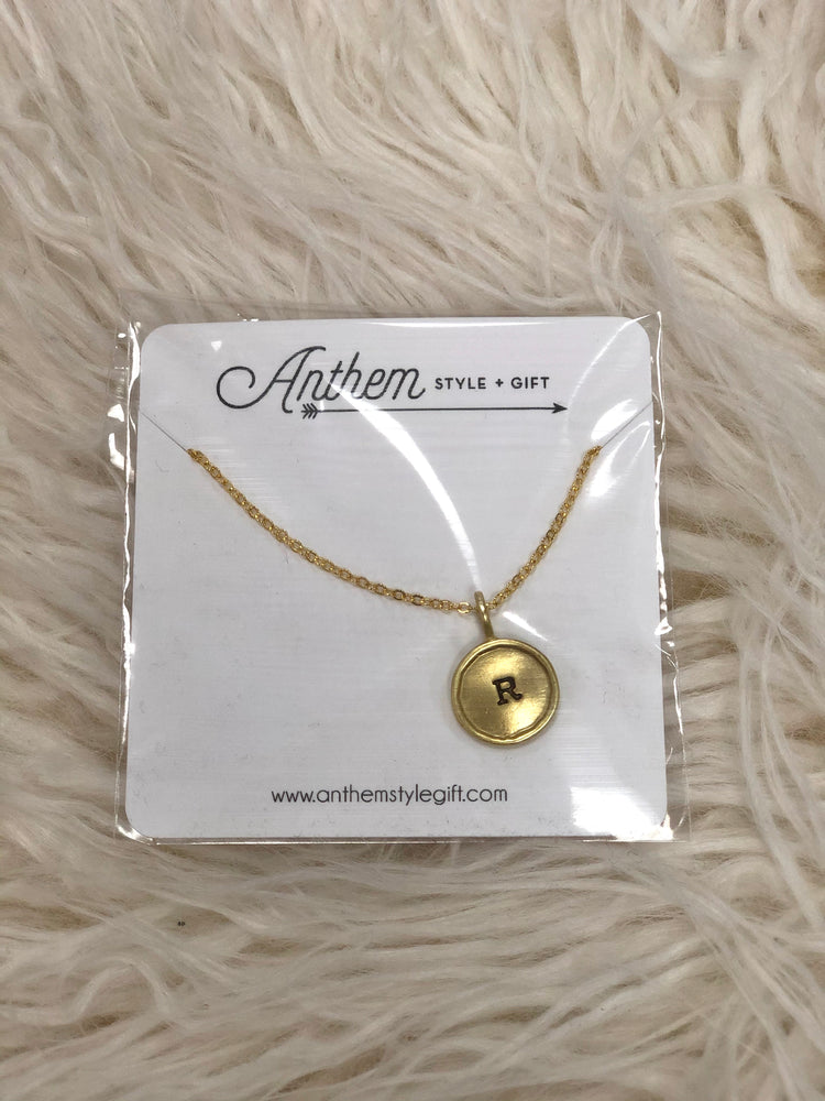 Charm Necklace in Letter R