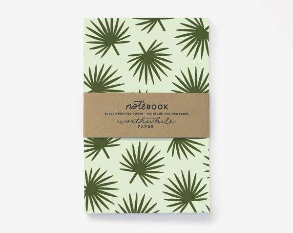 Worthwhile Paper Palm Leaf Pattern Notebook