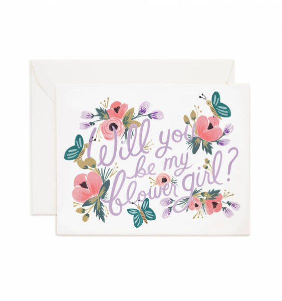 Rifle Paper Co. Will You be My Flower Girl? Card