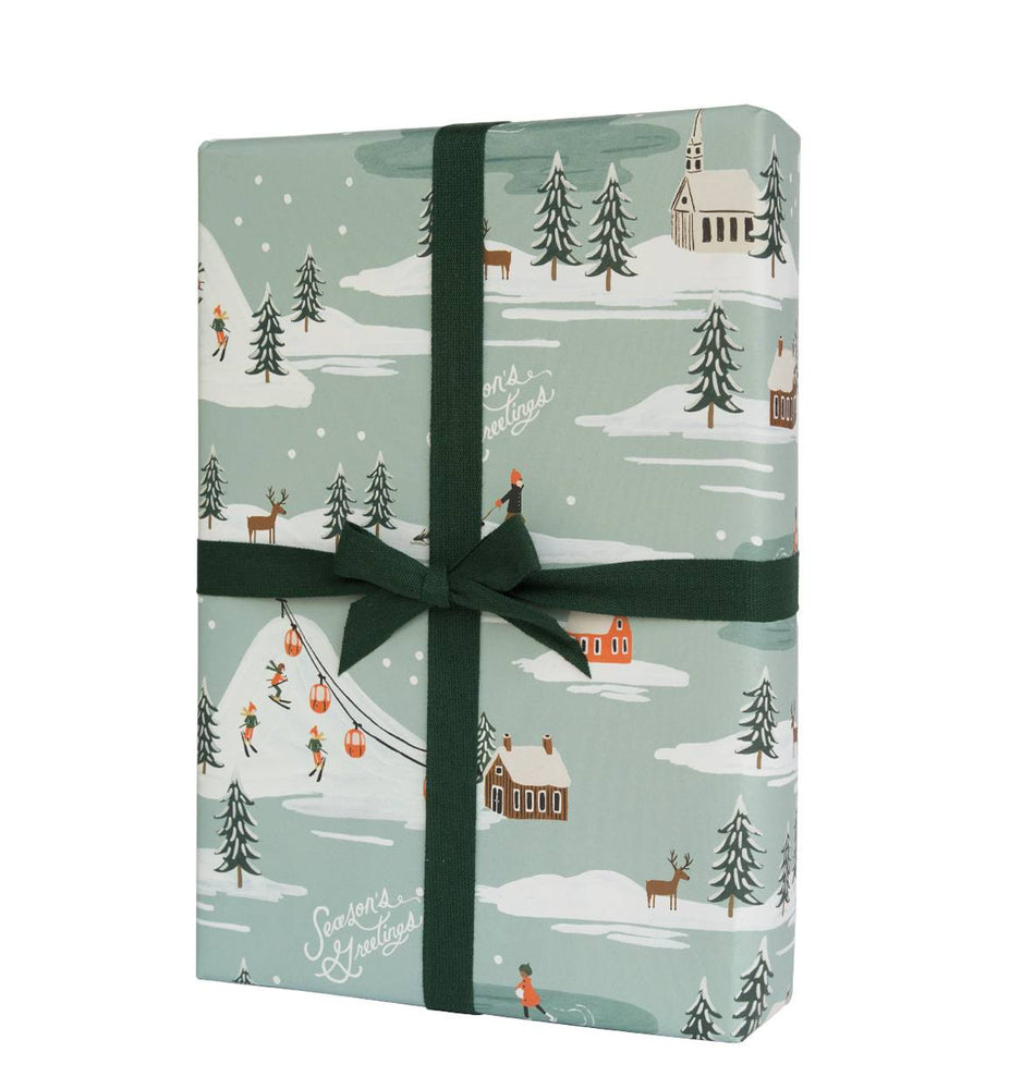 Rifle Paper Co. Roll of 3 Holiday Snowscene Wrapping Sheets