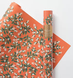 Rifle Paper Co. Roll of 3 Mistletoe Wrapping Sheets