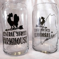 Central Street Farmhouse Beer Can Glass