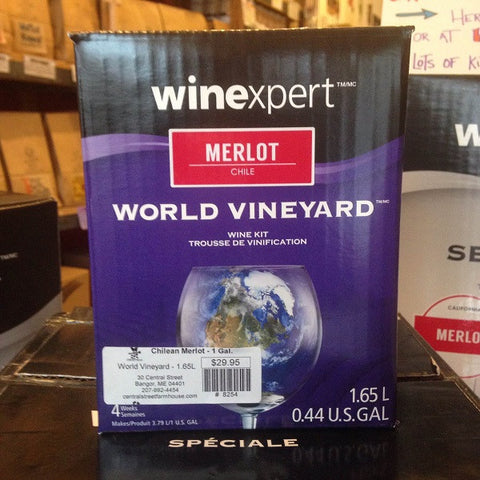 Chilean Merlot ONE GALLON Wine Kit (World Vineyard)