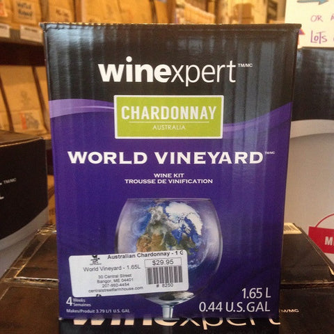 Australian Chardonnay ONE GALLON Wine Kit (World Vineyard)