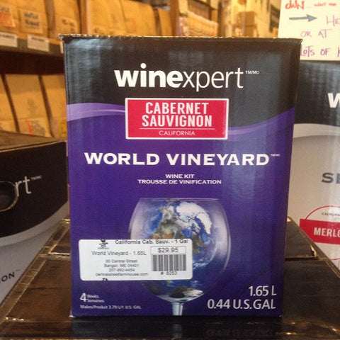 California Cabernet Sauvignon ONE GALLON Wine Kit (World Vineyard)
