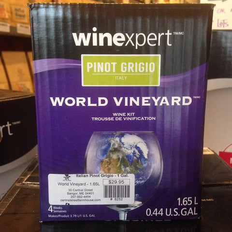 Italian Pinot Grigio ONE GALLON Wine Kit (World Vineyard)