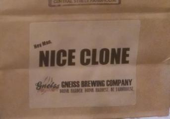 Hey Man, Nice Clone Weissbier - GNEISS BREWING CO Weiss Clone