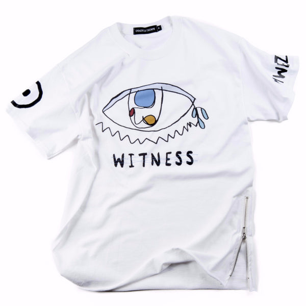 "T-shirt - ""Eye Witness"" - White"