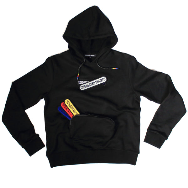 "Undaunted Triumph Hooded Sweatshirt ""Hood Star""  - Black"