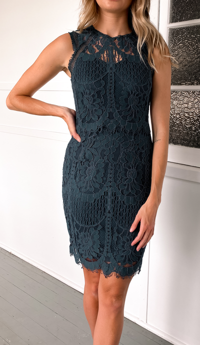 Marianna Dress - Teal