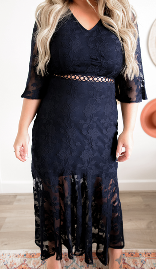 Audrey Dress - Navy