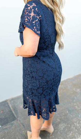 Dakota Dress -Navy