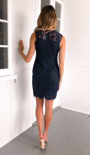 Marianna Dress - Navy