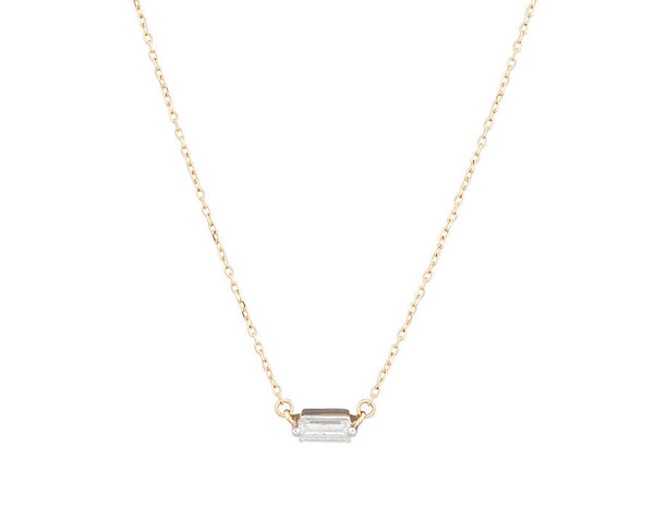 Adaline Baguette Pendant Necklace