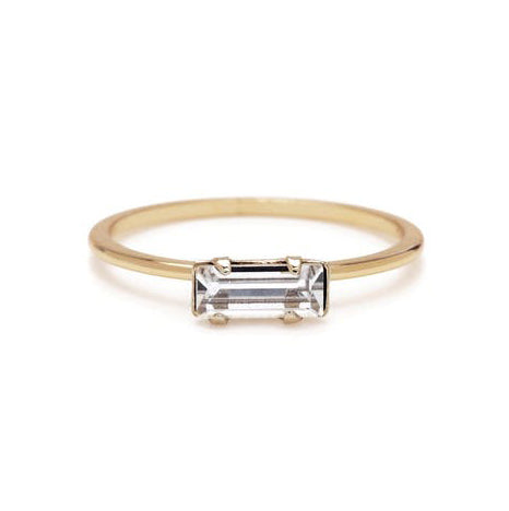 Alice Tiny Baguette Ring