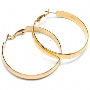 Ava Thick Gold Hoop Earrings