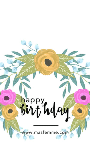 Happy Birthday Gifting Card