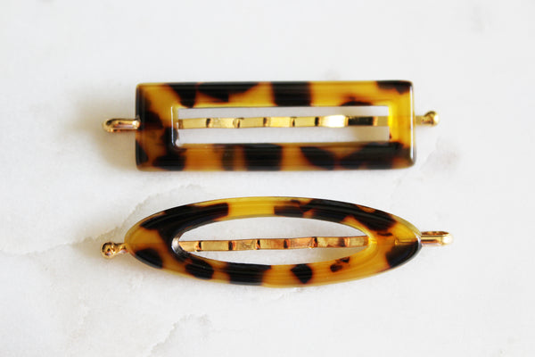 Dark Tortoise Shell Small Barrette Set