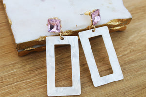 Delaney Acrylic Drop Earrings