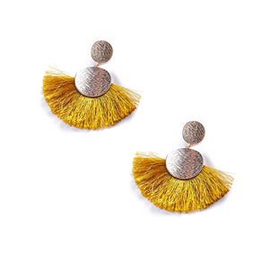 Delilah Fan Fringe Earrings