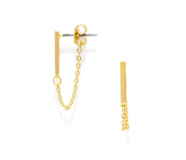 Dillon Bar Chain Stud Earrings