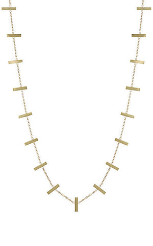 Elena Cross Bar Necklace