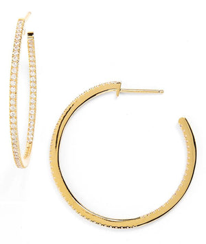 Elizabetta Large Gold Hoop Earrings