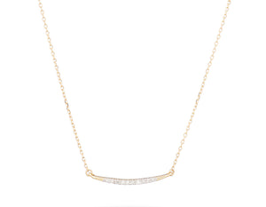 Evangeline Curved Bar Necklace