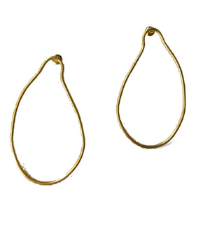 Gabriella Organic Oval Earrings