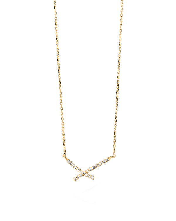 Jax Dainty X Cross Necklace