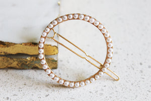 Pearl Circle Barrette