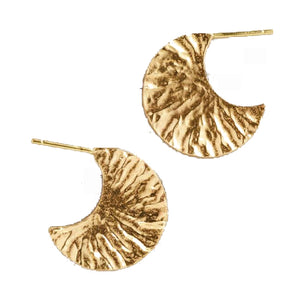 Hazel Hammered Hoop Earrings