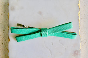 Mint and Black Textured Bow Set